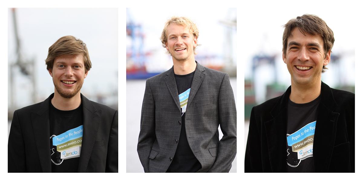 Die drei Jimdo-Gründer: Christian Springub, Fridtjof Detzner und Matthias Henze (von links). (Fotos: Jimdo)