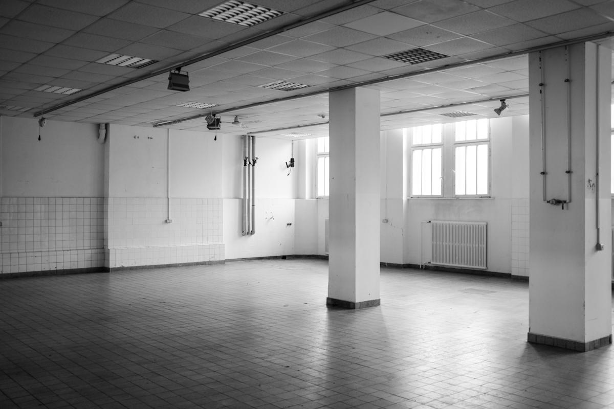 Ein leerstehender Raum.