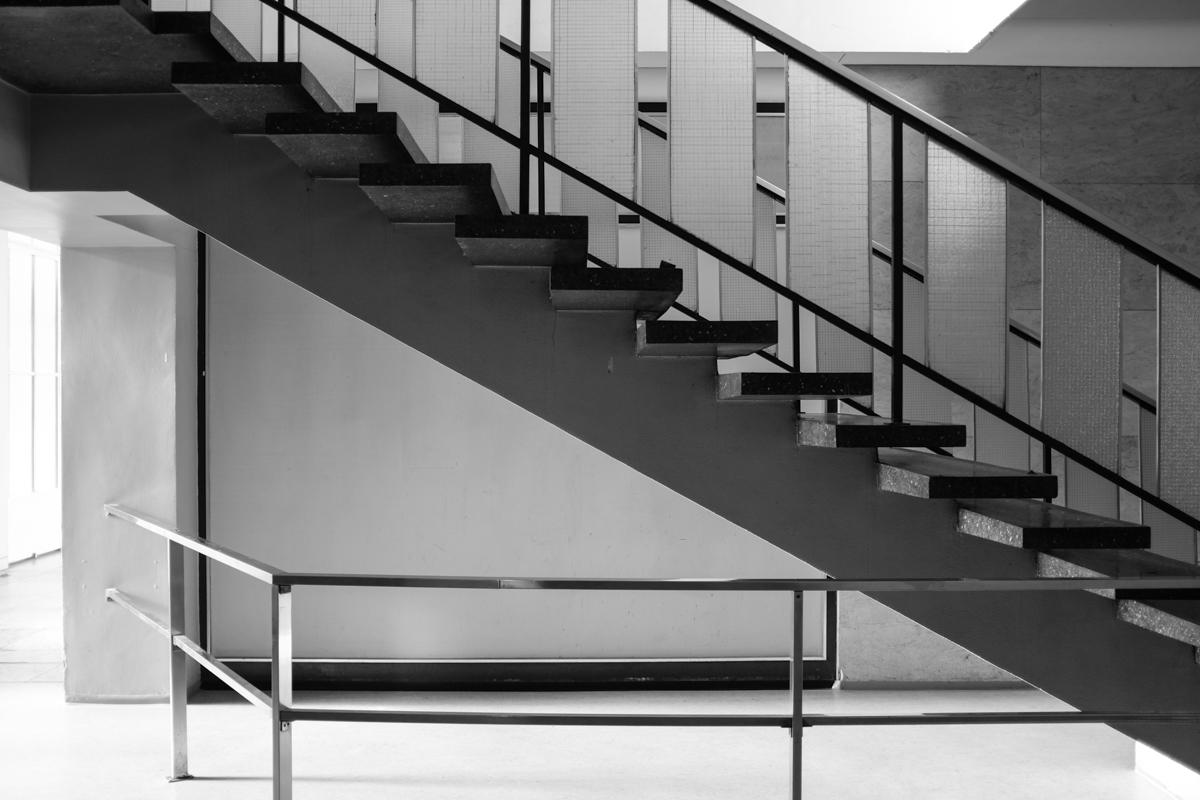 Treppe zur Galerie.