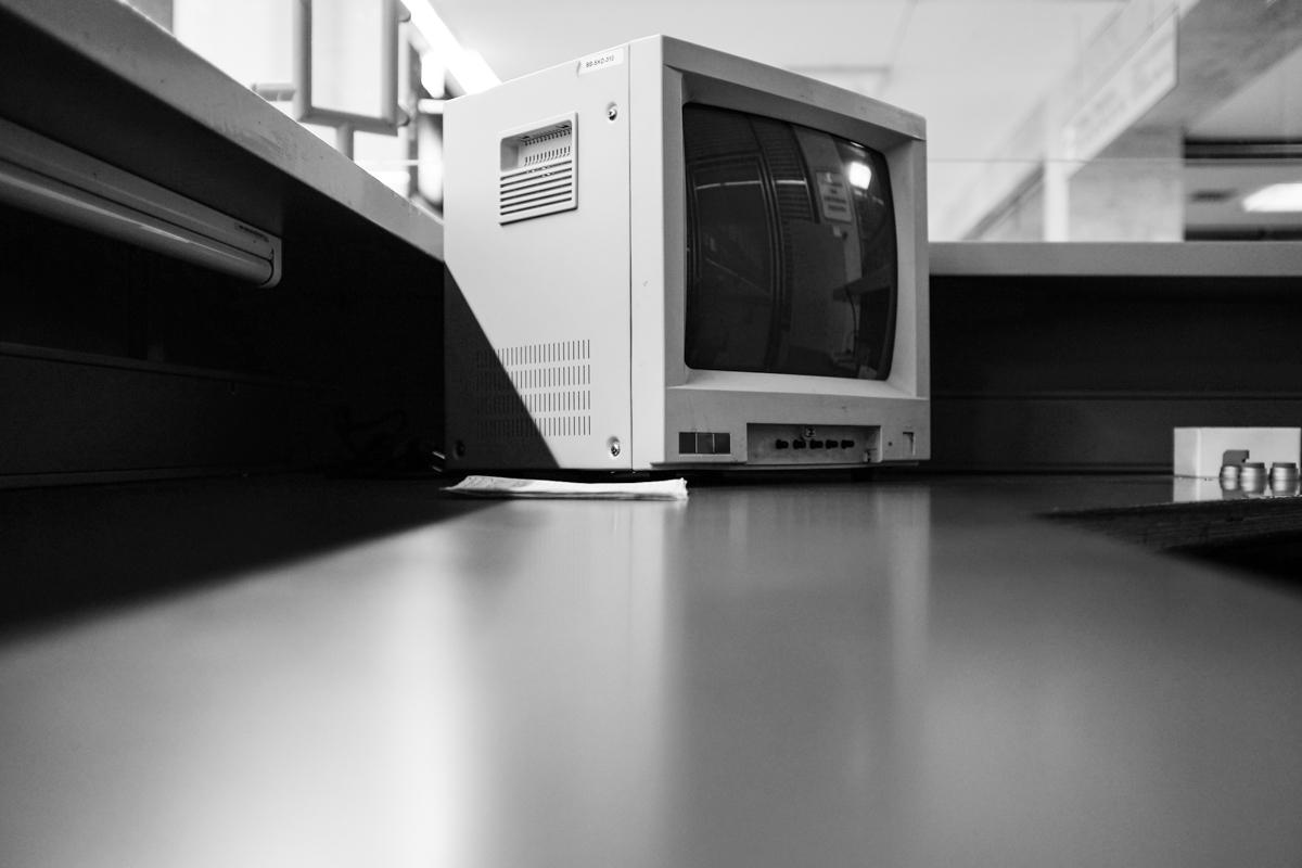 Ein ausrangierter Computer.